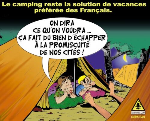 Les français préfèrent le camping …