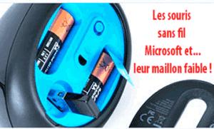 Le connecteur de la souris Microsoft Sculpt