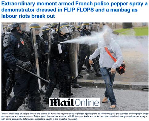 Un dangereux casseur donnait des coups de pieds à la police !
