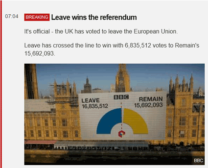 Le Brexit acté par 52 % des Britanniques