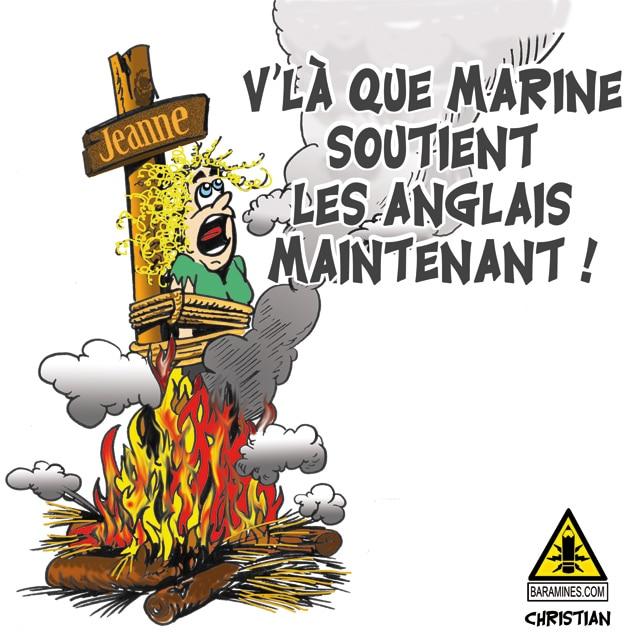 BREXIT … Marine abandonne Jeanne d'ARC et soutient les anglais …