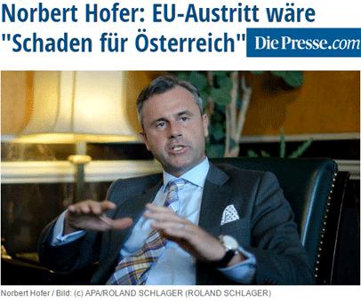 L'extrême-droite autrichien pour le maintien dans l'UEri