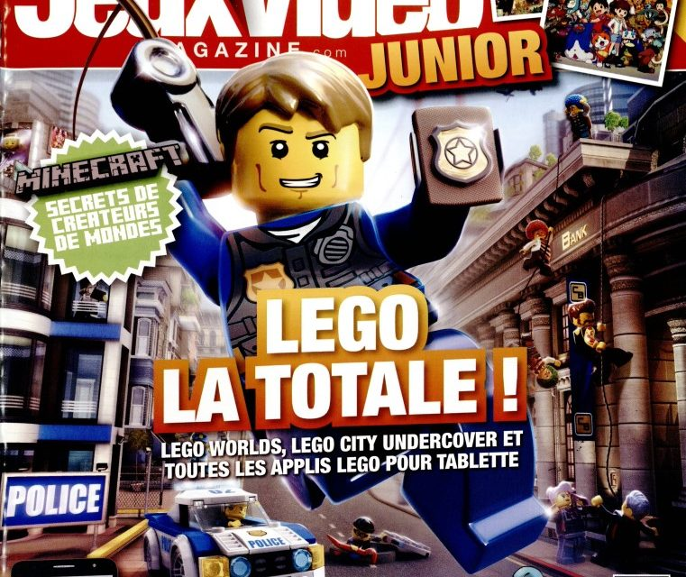 jeux vid o magazine junior et son lego city exclusif come4news. Black Bedroom Furniture Sets. Home Design Ideas