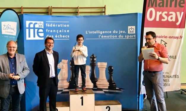 Echecs : Pierre Stephan, champion de France 2018 de parties rapides.